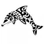 Modèle de tatouage de dauphin maori