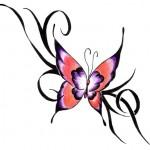 Modèle de tatouage de papillon