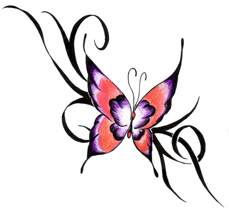 modele de tatouage de papillon tatouage de papillon en bas