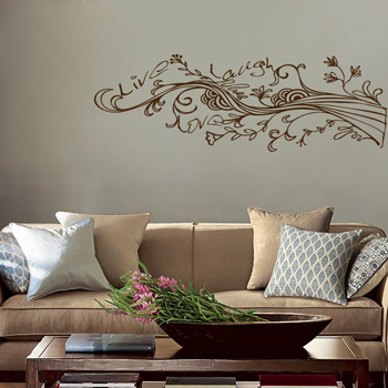 tatouage mural stickers pour la d coration d 39 int rieur designs de tatouage mural wall. Black Bedroom Furniture Sets. Home Design Ideas