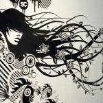 Design de tatouage mural rock pour la décoration d'intérieur