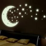 Design de tatouage mural d'étoiles filantes