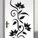 Design de tatouage mural de fleurs tribales