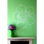 Design de tatouage mural d'hibiscus