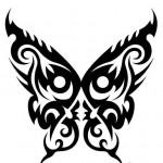 Modèle tatouage papillon tribal