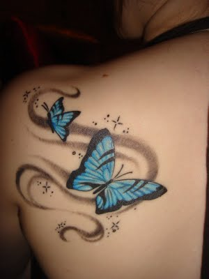 tattoo papillon. Tattoo Papillon Epaule.