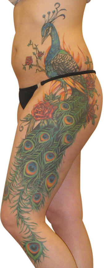 Assez Tatouage hanche, modèles de tatouages sur la hanche, le creux des  JV31
