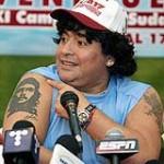 Tatouages de Diego Maradona, sélectionneur de l'argentine