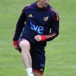 Tatouage de Fernando Torres, joueur de l'Espagne