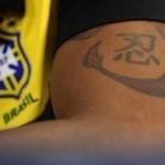 Tatouage de Grafite, joueur du Brésil