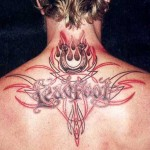 tatouage de James Hetfield dans le dos