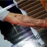 tatouage de James Hetfield intérieur du bras