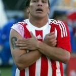 Tatouage de Salvador Cabanas joueur du Paraguay