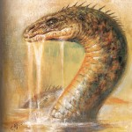 Modèle de tatouage de serpent de mer
