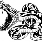 Modele de tatouage de serpent tribal
