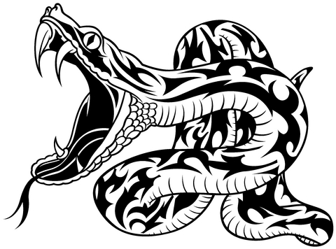 Coloriage Serpent on eagle car symbol