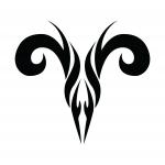 Modele de tatouage de belier tribal évolué