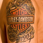 Modele de tatouage de serpent Harley davidson
