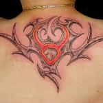 Modèle de tatouage de taureau tribal