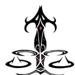 Modèle de tatouage de balance tribal