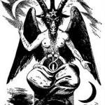 Modèle de tatouage de capricorne bouc satanique