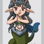 Modèle de tatouage de capricorne dessin manga