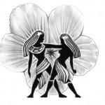 Modèle de tatouage de gémeaux