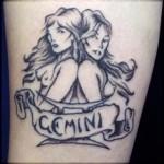 Modèle de tatouage de jumelles sexy