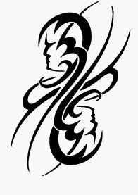 Modèle de tatouage de gémeaux tribal