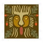 modèle de tatouage de lion celtique