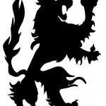 modèle de tatouage de lion médieval