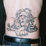 modèle de tatouage de lion original