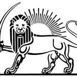 modèle de tatouage de lion et soleil