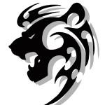modèle de tatouage de lion tribal