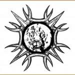 modèle de tatouage de lion encadré