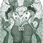Modèle de tatouage de poissons antiques
