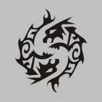 Modèle de tatouage de poissons tribal
