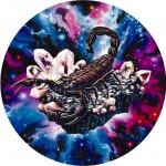 Modèle de tatouage de scorpion cosmique