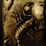 Modèle de tatouage de scorpion style gravé