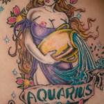 Modèle de tatouage de verseau old school