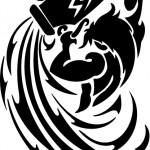 Modèle de tatouage de verseau tribal