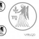 Modèle de tatouage de vierge classique