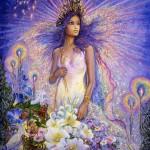 Modèle de tatouage de vierge fantasy en couleur