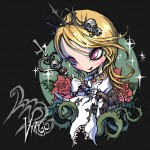 Modèle de tatouage de vierge style manga