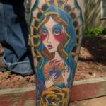 Modèle de tatouage de vierge old school