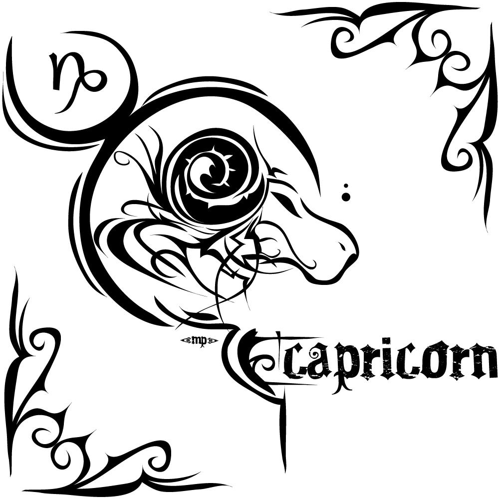 Tatouage Capricorne Signe Astrologique Du Capricorne
