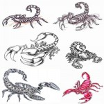 Modèles de tatouages de scorpions