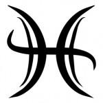 symbole du signe des poissons stylisé