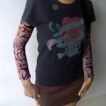 tee-shirt tatouage pour femme