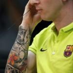 Detail tatouage bras de Messi